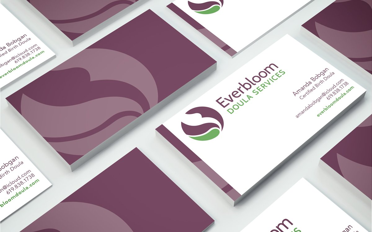 Everbloom Doula Services Business Card Design