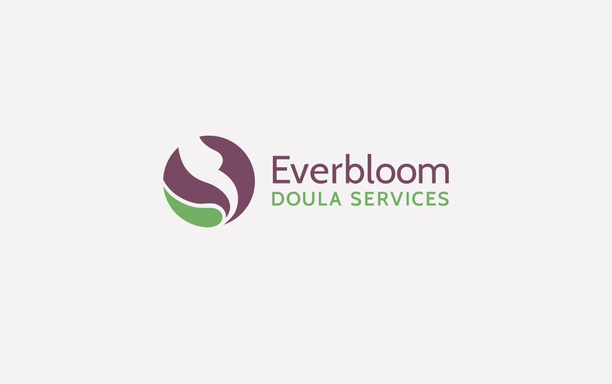 Everbloom Doula Services Logo Design in Horizontal