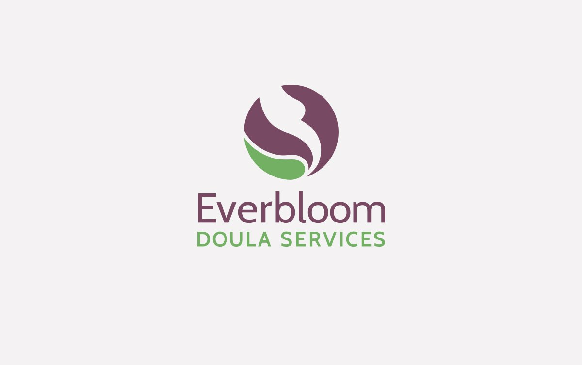 Everbloom Doula Services Logo Design in Vertical