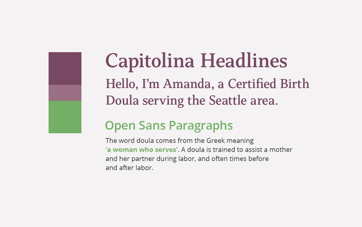 Everbloom Doula Services Typography and Color