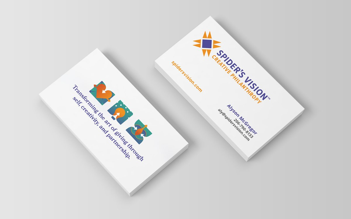 Spider's Vision Business Card Designs