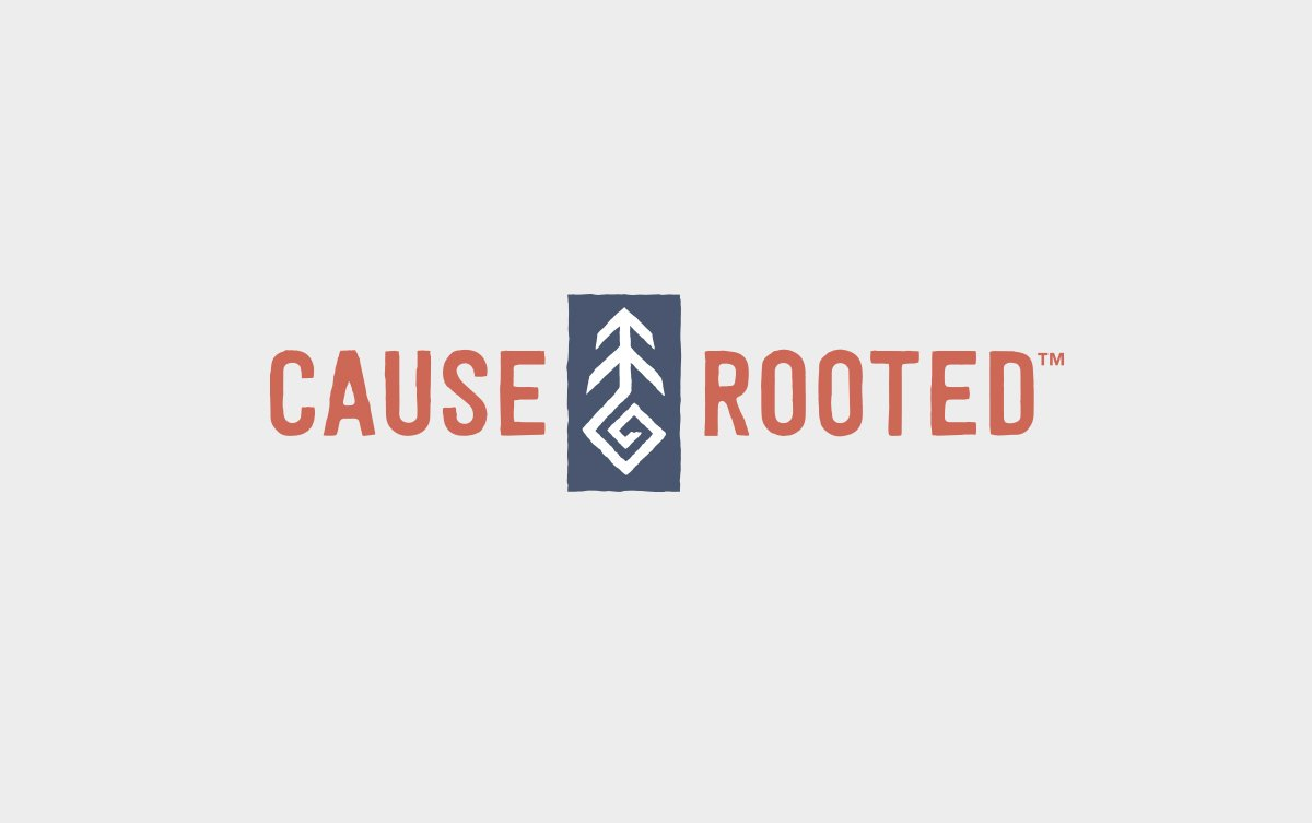 Cause Rooted Logo Design in Horizontal