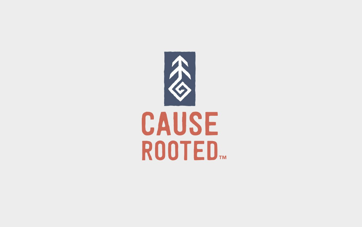 Cause Rooted Logo Design in Vertical