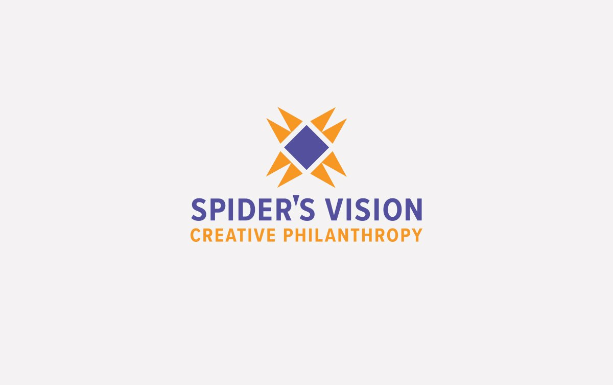 Spider's Vision Logo Design in Vertical